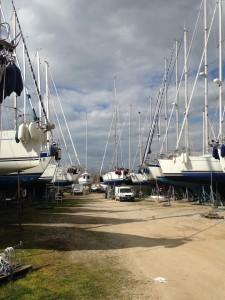 Porto Verde ved Scarlino i Toscana er en stor velordnet P-plads for både!