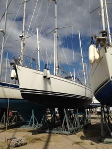 Klar til søsætning 22. marts 2015 i Porto Verde, Scarlino