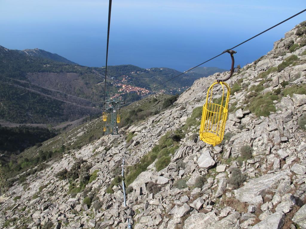 Kurveliften til Elbas top. Vi var eneste gæster.