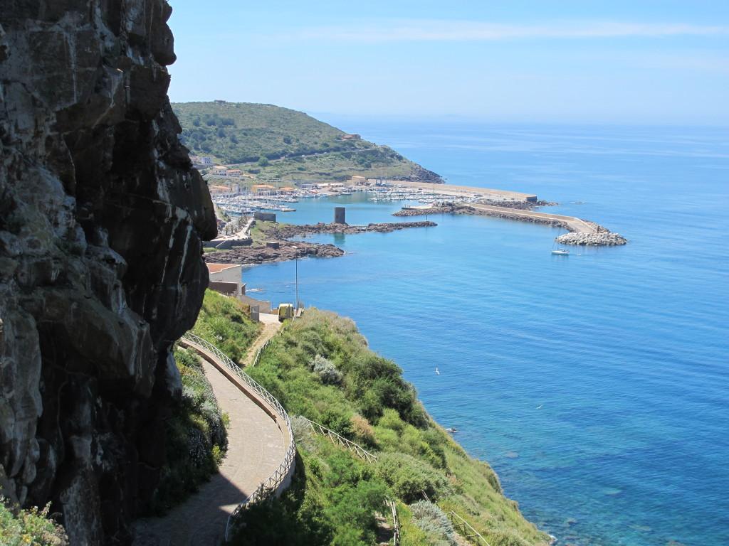 Castelsardo Marina set fra borgen
