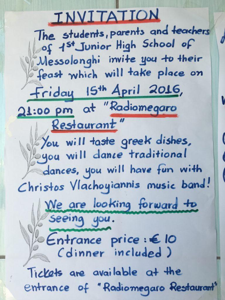 Den lokale Junior High School inviterede alle sejlere fra marinaen til fest en fredag aften. Enestående initiativ og en fin oplevelse blev det.