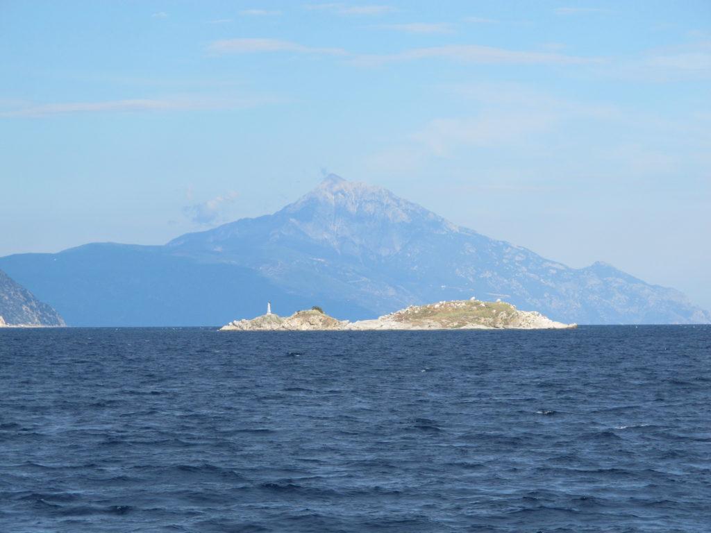Mount Athos' 2.030 meter markerer sydspidsen af Munkerepublikken