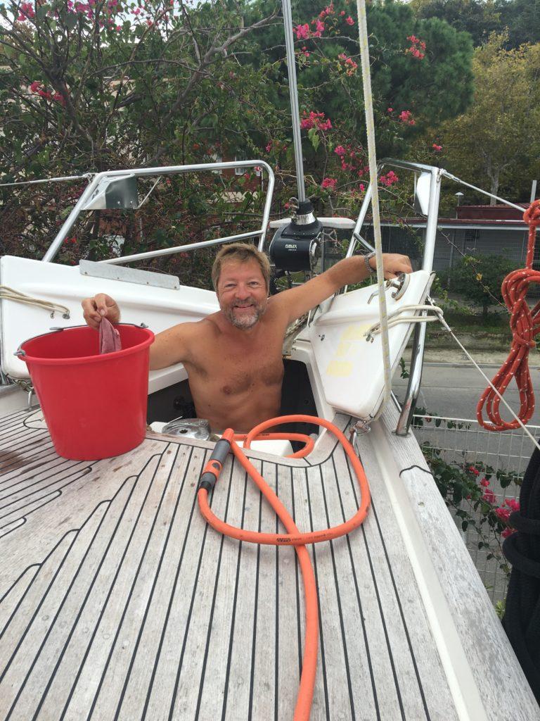 Vi bruger 3 dage på land med klargøring for vinteren, hvor vi jo forlader båden